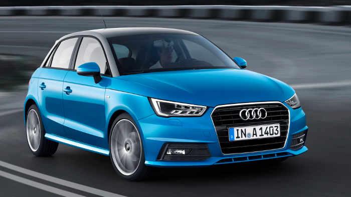 Der Audi A1 ist mit einem modernen Dreizylinder unterwegs,
