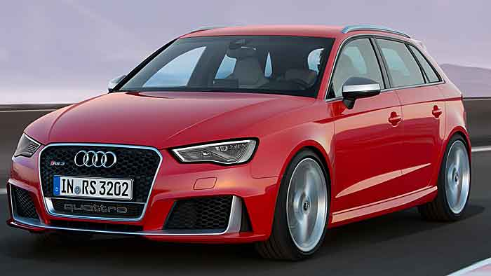 Audi RS 3 Sportback: Nase vorn