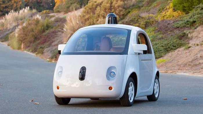 So sieht das autonome Fahrzeug von Google aus.