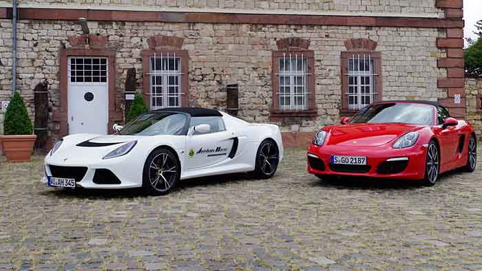 Lotus und Porsche: Ähnliche Basis – verschiedene Wege