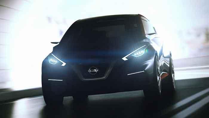 Der Nissan Sway fährt noch im Dunkeln.