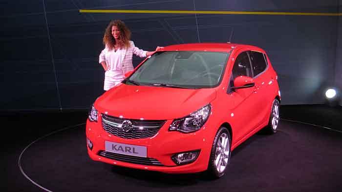 Der Opel Karl wurde am Montag in Genf gezeigt.