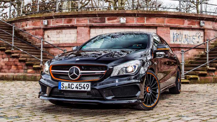 mercedes cla 45 amg man sieht orange. Black Bedroom Furniture Sets. Home Design Ideas