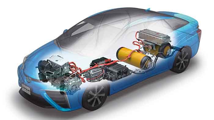 Die Produktion des Toyota Mirai läuft überwiegend manuell ab.