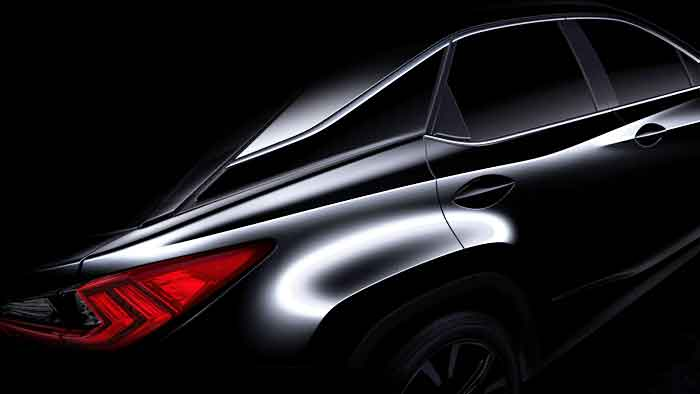 Eine erste Skizze des Lexus RX.