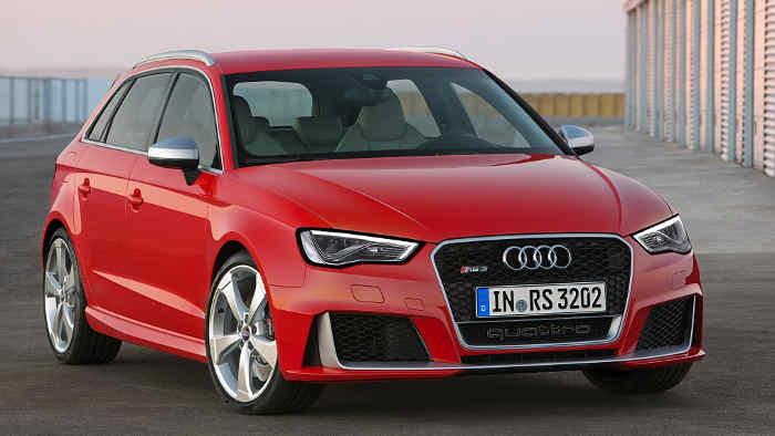 Der RS3 von Audi ist mit 367 PS unterwegs.