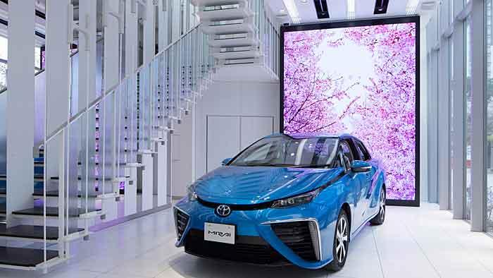 Toyota eröffnet in Tokio ersten Wasserstoff-Showroom.