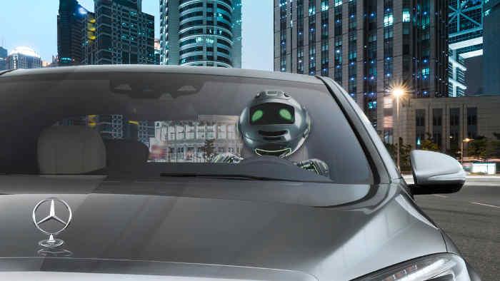 Ein Roboter macht weniger Fehler beim Autofahren.