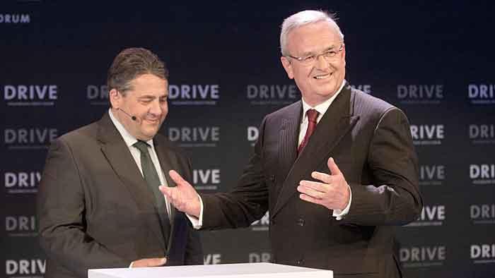 VW-Chef Martin Winterkorn und Sigmar Gabriel