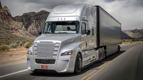 Der Freightliner Inspiration Truck fährt selbstständig.