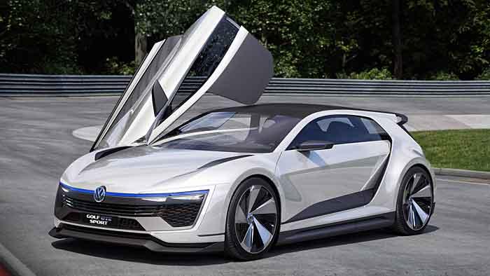 Die VW Golf GTE Sport-Studie erreicht nach 4,3 Sekunden Tempo 100.