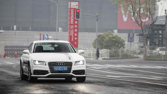 Ein Audi A7 Sportback autonom unterwegs in Shanghai.