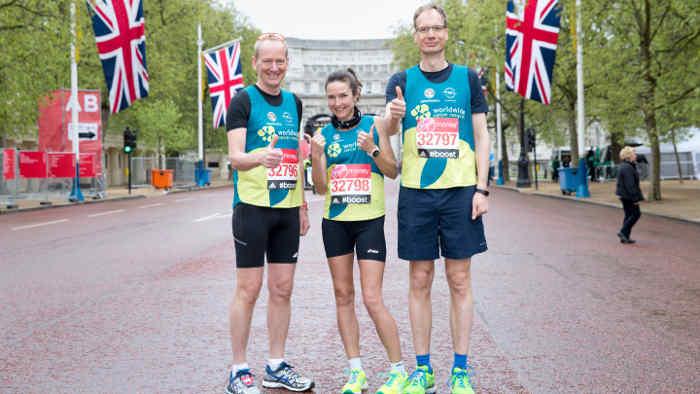 OpelChef Neumann beim Marathon in London