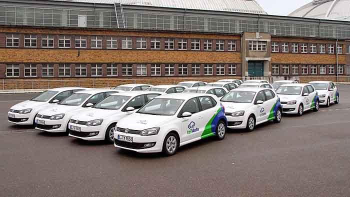 Das Carsharing-Unternehmen teilAuto hat VW Polo im Programm.