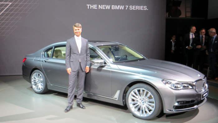 BMW-Chef Harald Krüger präsentierte den neuen 7er.