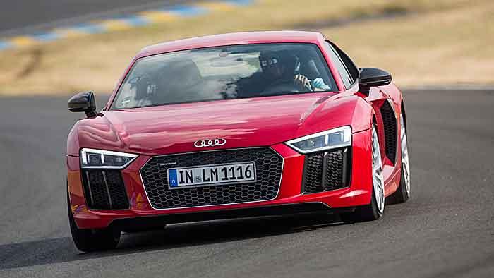 Der Audi R8 auf der Jungfernrunde in Le Mans