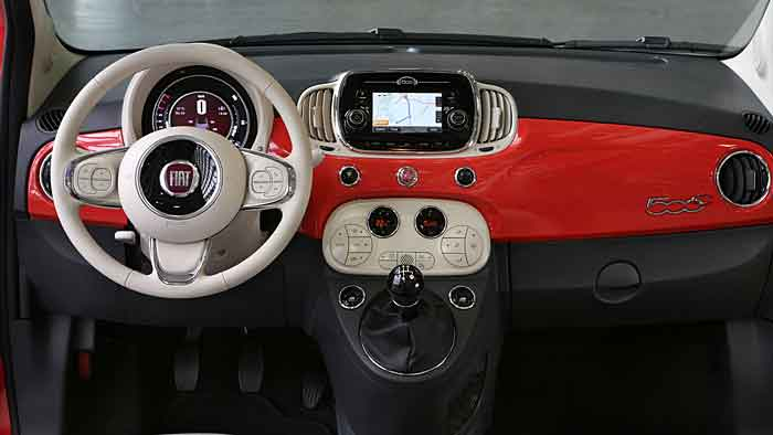 Äußerlich hat sich am Fiat 500 kaum etwas verändert.