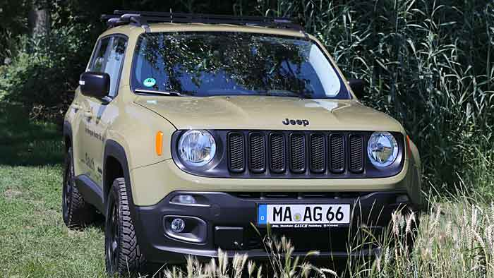 Jeep Renegade geht auf Jagd