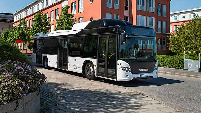 Der Scania Citywide LE/LF fährt mit CNG.
