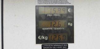 Der Preis für Erdgas wird in Kilogramm berechnet