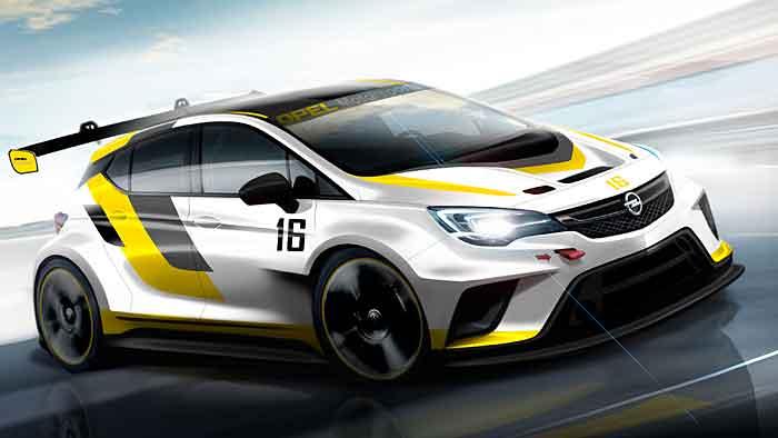 Opel verwandelt den neuen Astra in einen Tourenwagensportler.