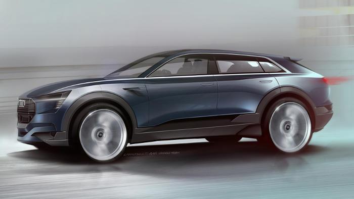 Das Audi e-tron quattro Concept wird ab 2018 in Serie gehen.