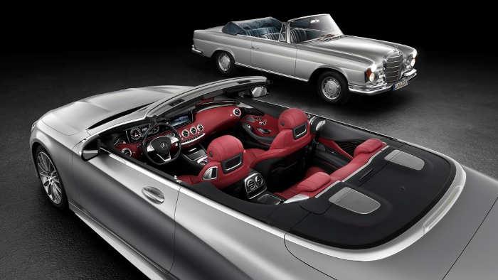 Neu trifft alt: Das neue S-Klasse Cabrio und der W111.
