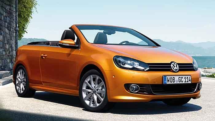 Sechs neue Außenfarben stehen für das überarbeitete VW Golf Cabrio zur Auswahl.