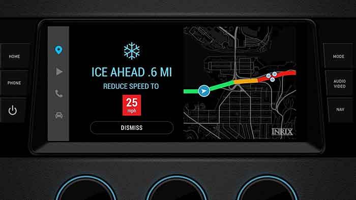 Inrix Road Weather warnt vor widrigen Verhältnissen