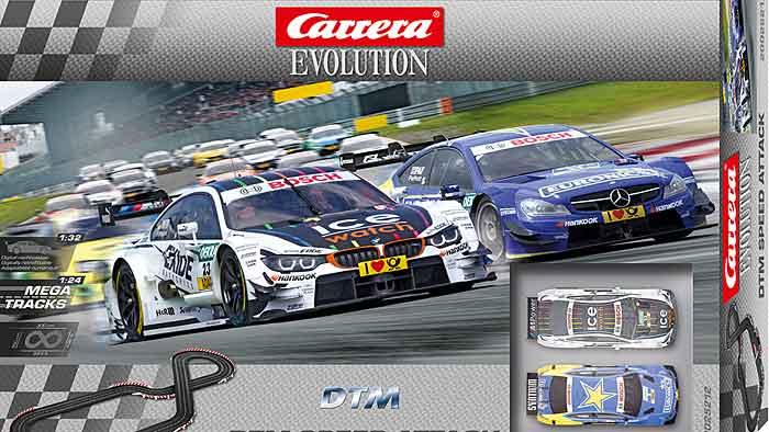 Das brandneue Rennset Carrera Evolution Speed Attack
