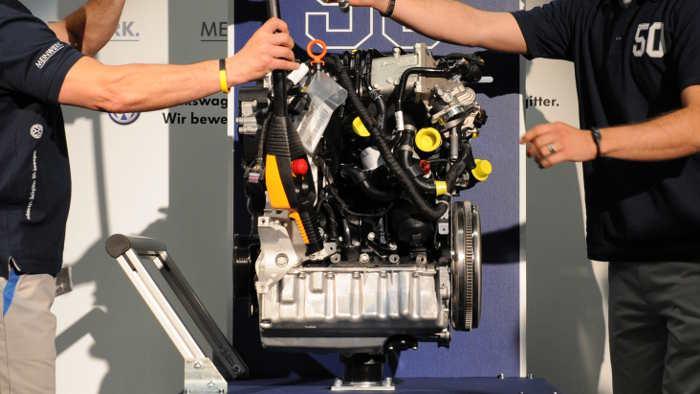 Dieselmotor von Volkswagen.