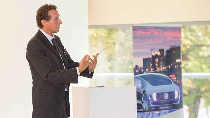 Julian Nida-Rümelin kann sich den Einsatz eines Mercedes F 015 nicht vorstellen.