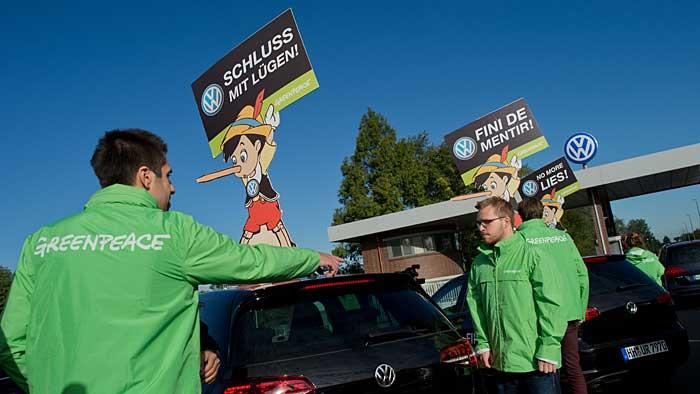 Greenpeace-Protest bei Volkswagen