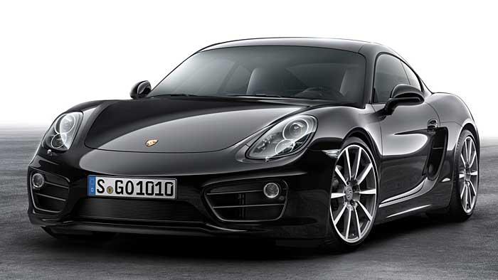 Porsche Cayman ganz in Schwarz