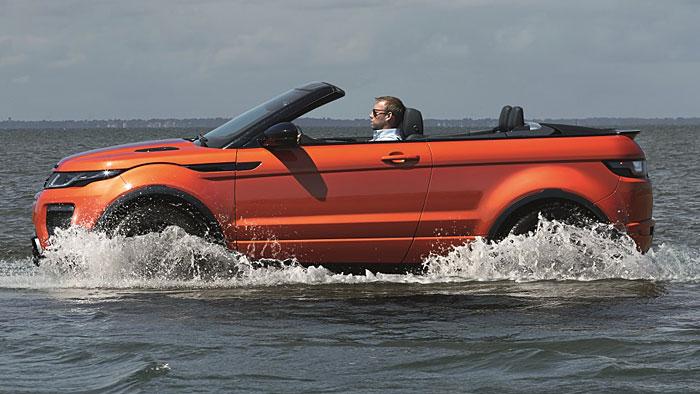 Das Range Rover Evoque Cabrio feiert seine Premiere in Los Angeles.