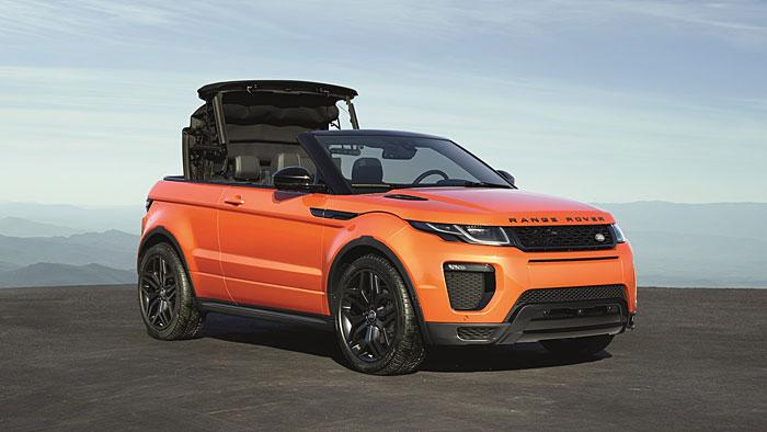 Das Range Rover Evoque Cabrio feiert seine Premiere standesgemäß in Los Angeles.