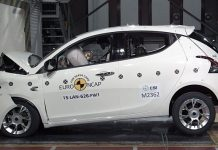 Der betagte Lancia Ypsilon leidet unter den neuen Regeln der EuroNCAP-Crashtests.