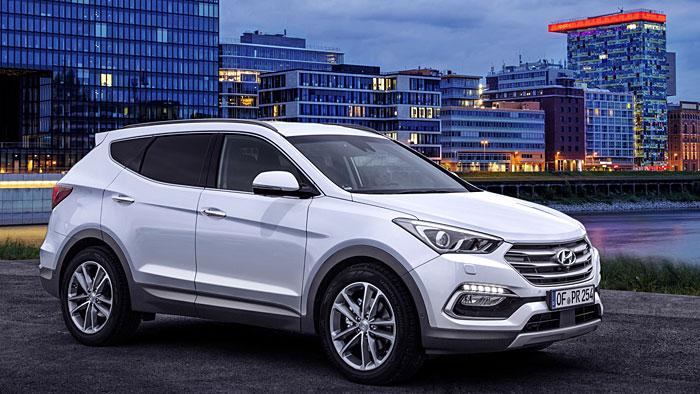 Hyundai hat den Santa Fe mit mehr Technik ausgestattet.