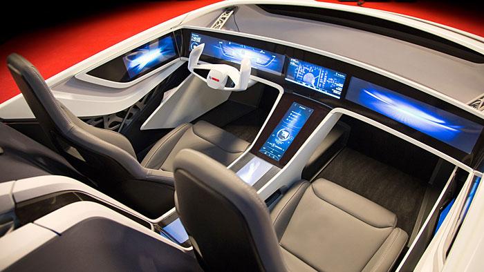 Bosch stellt auf der CES eine Cockpit-Studie vor.