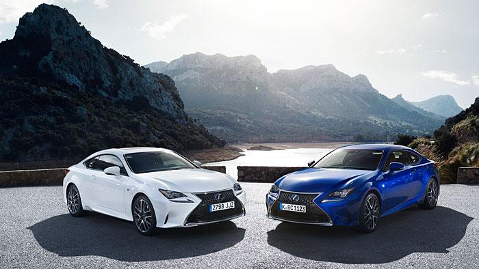 Den Lexus RC gibt es als Hybriden oder mit Turbomotor.