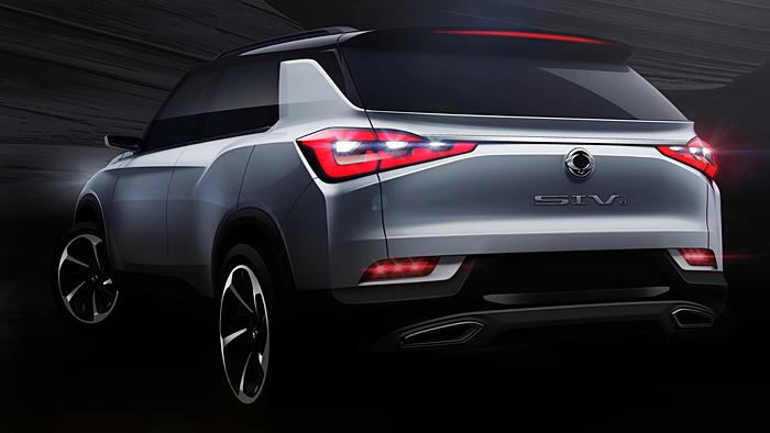 SsangYong enthüllt in Genf das Mittelklasse-SUV SIV2 Concept.