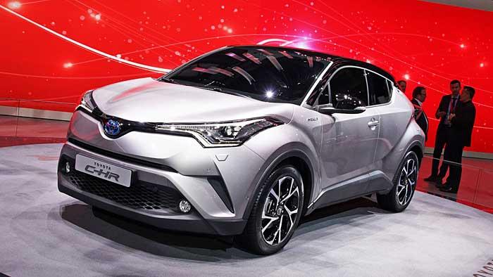 Toyota stößt mit dem C-HR ins Segment der Crossover vor.