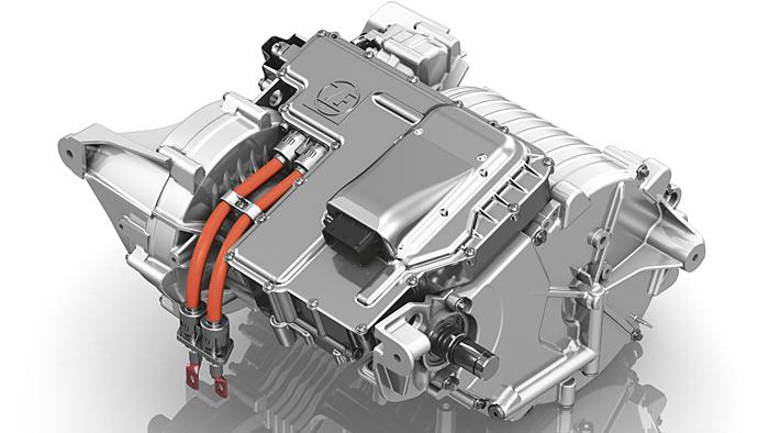 Der Elektroachsantrieb von ZF beherbergt Getriebe und Motor in einem Gehäuse.