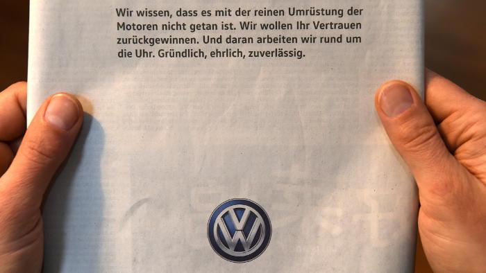 VW wirbt um Vertrauen bei Kunden
