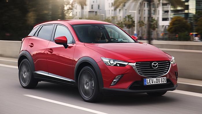 Der Mazda CX-3 wird auch dank seiner erhöhten Position gerne gewählt.
