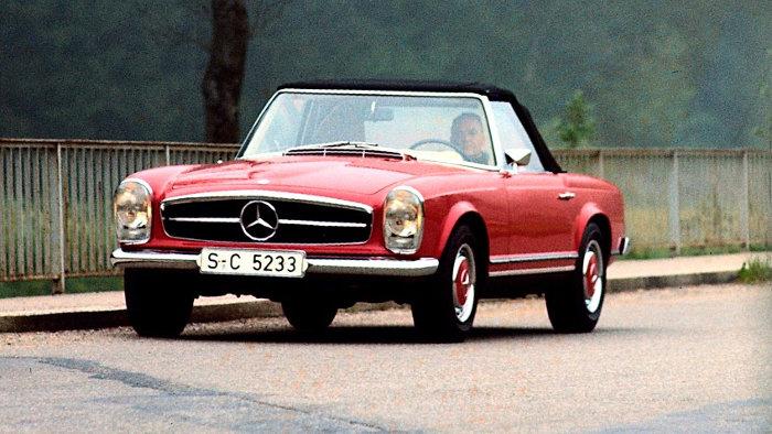 Die Mercedes Pagode ist Mängelzwerg bei den Oldtimern.