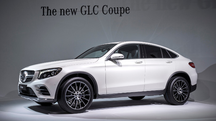 Mercedes feiert in New York Premiere mit dem GLC Coupé.