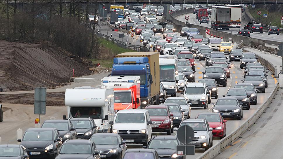 Auch auf der Autobahn A7 wird es Staus geben