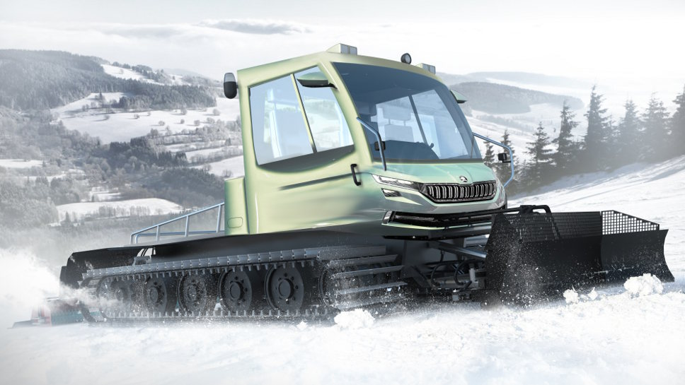 Der Skoda Snowman misst mehr als neun Meter.