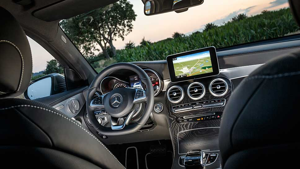 Der Mercedes GLC ist mit dem starken Diesel gut motorisiert unterwegs.